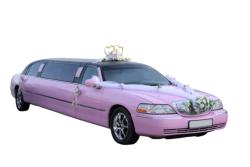 pink wedding limo